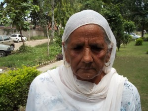 Mrs Baljinder Kaur wife of Sepoy Jaspal Singh