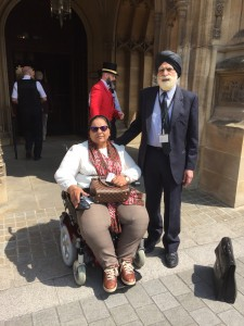 Lord Indarjit Singh with Mrs Rajwant Kaur, the sister of missing Indian POW Flt. Lt. Gurdev Singh Rai
